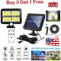 Outdoor Commercial Solar Street Light IP65 Dusk to Dawn Security LampRemote US