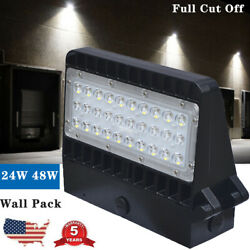 LED Wall Pack Light Commercial Outdoor Waterproof Area Security Lighting 24W 48W