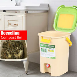 21L Large Kitchen Compost Kitchen Food Trash Recycle Compost Bin Bucket New $67.05
