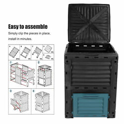 300L Composting Bin Large Capacity Compost Container for Outdoor Garden $97.88
