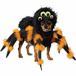 Spider Pup Dog Costume Pet Animal Insect Tarantula Legs Funny Scary Fur Dress Up $26.79