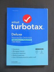 GENUINE 2020 Intuit TurboTax Deluxe Federal amp; State Windows Mac Download or Disc $11.90