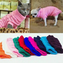 Winter Dog Clothes Puppy Cat Sweater Warm Jacket Coat For Small Dog Chihuahua $4.39