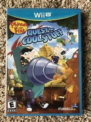 PHINEAS AND FERB QUEST FOR COOL STUFF NINTENDO Wii U BRAND NEW SEALED RARE $109.99