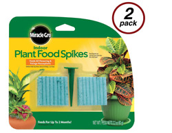 Miracle Gro Indoor Fertilizer Plant Food With 96 Spikes Fast Grow Plants $9.99