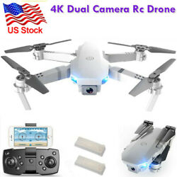 4K RC Drone Quadcopter Wide Angle Video Camera GPS Foldable Selfie WiFi2Battery $61.10
