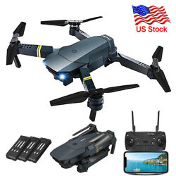 FPV Wifi Drone RC Quadcopter HD Camera Aircraft Foldable Wifi 4K Selfie3Battery $52.99