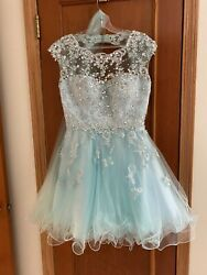 Prom Dress Short Size Small with Size 7 Shoes Included $190.00