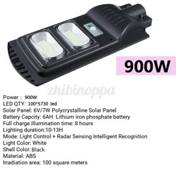 90000LM Solar LED Street Light Commercial Outdoor IP65 Security Road Lamp W