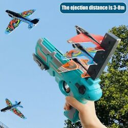 Toy Gun Catapult Foam Plane Airplane Ejection One Click Bubble Launcher Shooting $20.99
