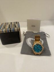 WOMENS FOSSIL WATCH RILEY ES 3385 NEEDS NEW BATTERY $19.95