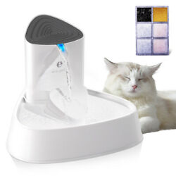 51oz LED Auto Pet Water Fountain with Adjust Water Flow Drinking Cat Dispenser $29.99