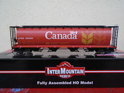 Intermountain Red Canada Cylindrical Covered Hopper CPWX 45102 150 HO Scale $46.95