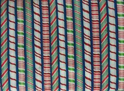 Cheri Strole Jolly Hollydays Christmas Novelty Cotton Quilt Striped Fabric OOP $8.99