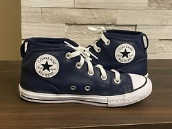 Converse All Star Boys High Tops Leather Sneakers Size 2 Youth $20.00