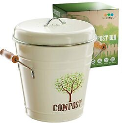 Kitchen Counter Compost Bin – 1.3 Gallon Compost Pail with Inner Liner $35.90