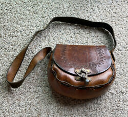 Vintage Leather Purse with Metal Clasps $30.00