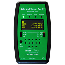 SLT Safe and Sound Pro II Microwave RF Meter Authorized Distributor $385.00