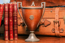 Wonderful Arts and Crafts Style Three Handled Antique Tennis Trophy $155.00