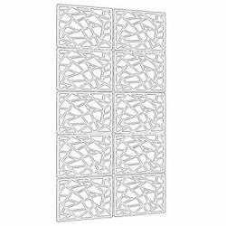 """Lchen Hanging Room Divider10 Pieces Wood Plastic Hanging Panels 0.2""""Thick Scree $51.52"""