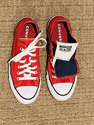 Converse All Star Women Size 7 Red Double Tongue Sneakers $20.00