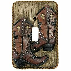 Urbalabs Western Cowboy Boots Roper Wood West Look Decorative Light Switch