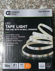 Commercial Electric LED Tape Light For Use With In Wall Dimmers
