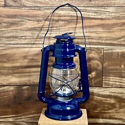 Gerson Hurricane Lantern w Dim Switch VTG Oil Lamp Look 15 LED Battery Operated $20.50