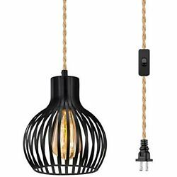 Licperron Hanging Lights with Plug in Cord Industrial Style Pendant Light Plu... $28.21