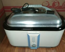 Vintage WESTINGHOUSE ROASTER oven countertop white electric turkey Cooker $149.00