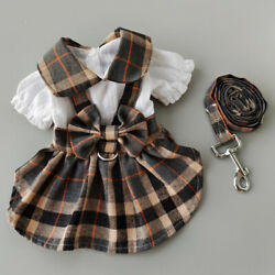 Small Dog Plaid Skirt with Traction Rope Puppy Princess Style Skirt Pet Supplies $9.37