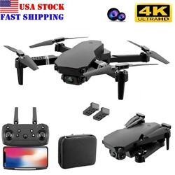 4K Quad Air Drone HD Dual Camera Foldable Quadcopter RC Dron For Xmas Toy New US $47.99