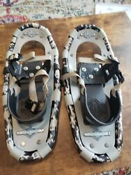 LL Bean Kids Snow Shoes Winter Walker 16quot; Youth package case blue camo $59.99