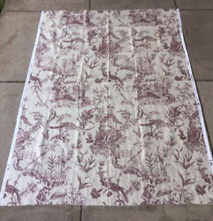 2 yds Waverly Fabric Colonial Williamsburg Foundation Pattern Oriental Toile $14.40