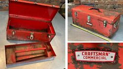 vtg toolbox 65141 CRAFTSMAN quot;COMMERCIALquot; 24quot; STEEL made in USA tool box CROWN
