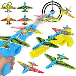 Toy Gun Catapult Foam Plane Airplane Ejection One Click Bubble Launcher Shooting $8.19