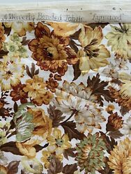 Vintage Waverly Fabric Lynnwood Browns Golds Greens 72quot; x 46quot; $18.99
