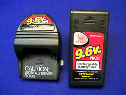 Used New Bright 9.6 Volt NiCd RC Battery Charger amp; Battery Pack Tested Works $26.00
