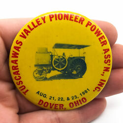 Vintage Steam Power Button Tuscarawas Valley Pioneer Power Dover Ohio 1981 $10.99