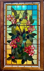 Exceptional floral stained glass window $2900.00