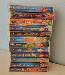 12 Disney Black Diamond VHS Tapes With Little Mermaid Banned Cover $150.00