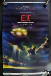 E.T. * THE EXTRA TERRESTRIAL MOVIE LOBBY STANDEE POSTER
