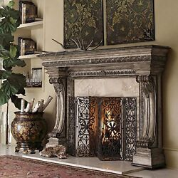 Elegantly Carved Casella Fireplace Surround Solid Hardwood Fireplace Surround