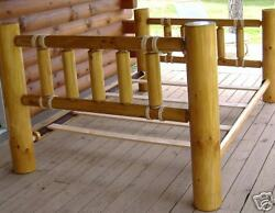 Rustic Log Bed  Queen Southwestern...Free Shipping