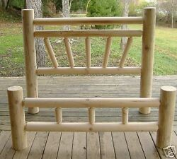 Log furniture  Rustic Sunrise Design Bed
