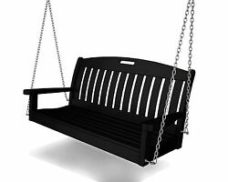 Polywood® Outdoor Furniture Nautical 4 ft Porch Swing w Heavy Chains
