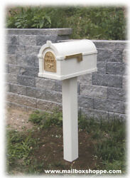 Gaines Keystone Mailbox & Matching Metal Mail Box Post