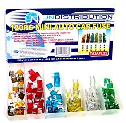 120pc MINI Blade Fuse Assortment Auto Car Motorcycle SUV FUSES Kit APM ATM  $6.79