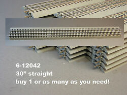 LIONEL FASTRACK 30 INCH LONG STRAIGHT TRAIN TRACK SECTION O Gauge 3 rail 6 12042 $19.94