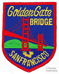 GOLDEN GATE BRIDGE embroidered patch SAN FRANCISCO SOUVENIR IRON-ON APPLIQUE $4.99